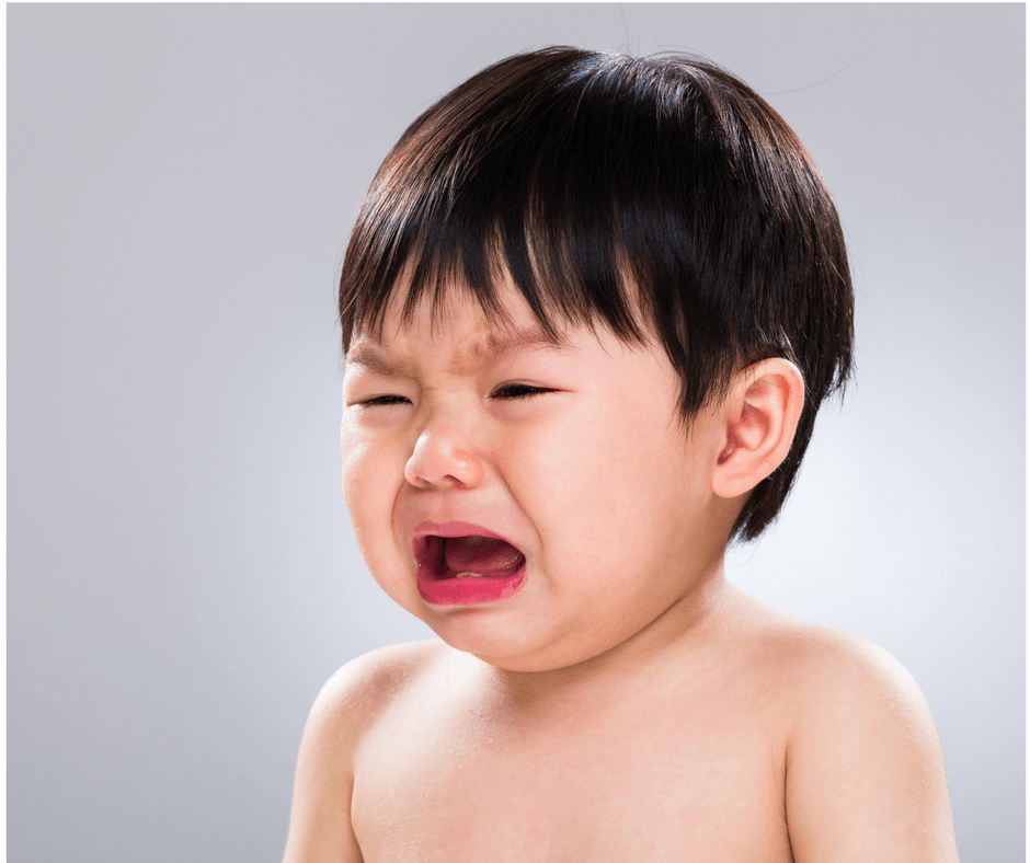"child crying after hearing ""no"""