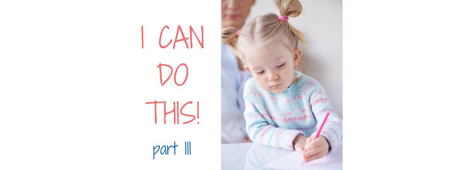 Children and Self Esteem – Part III