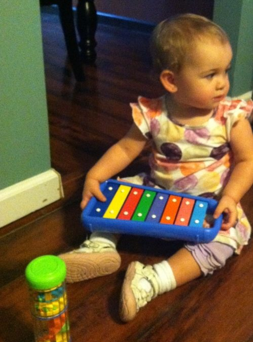 Baby Olivia Loved Her Developmental Toys!