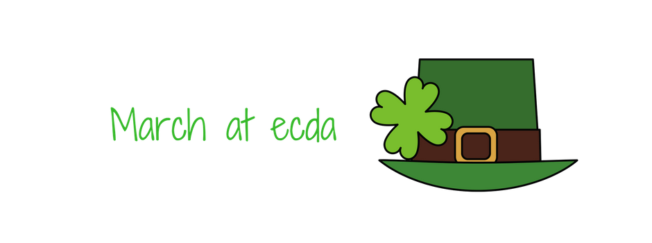 March at ECDA image of a hat and a shamrock