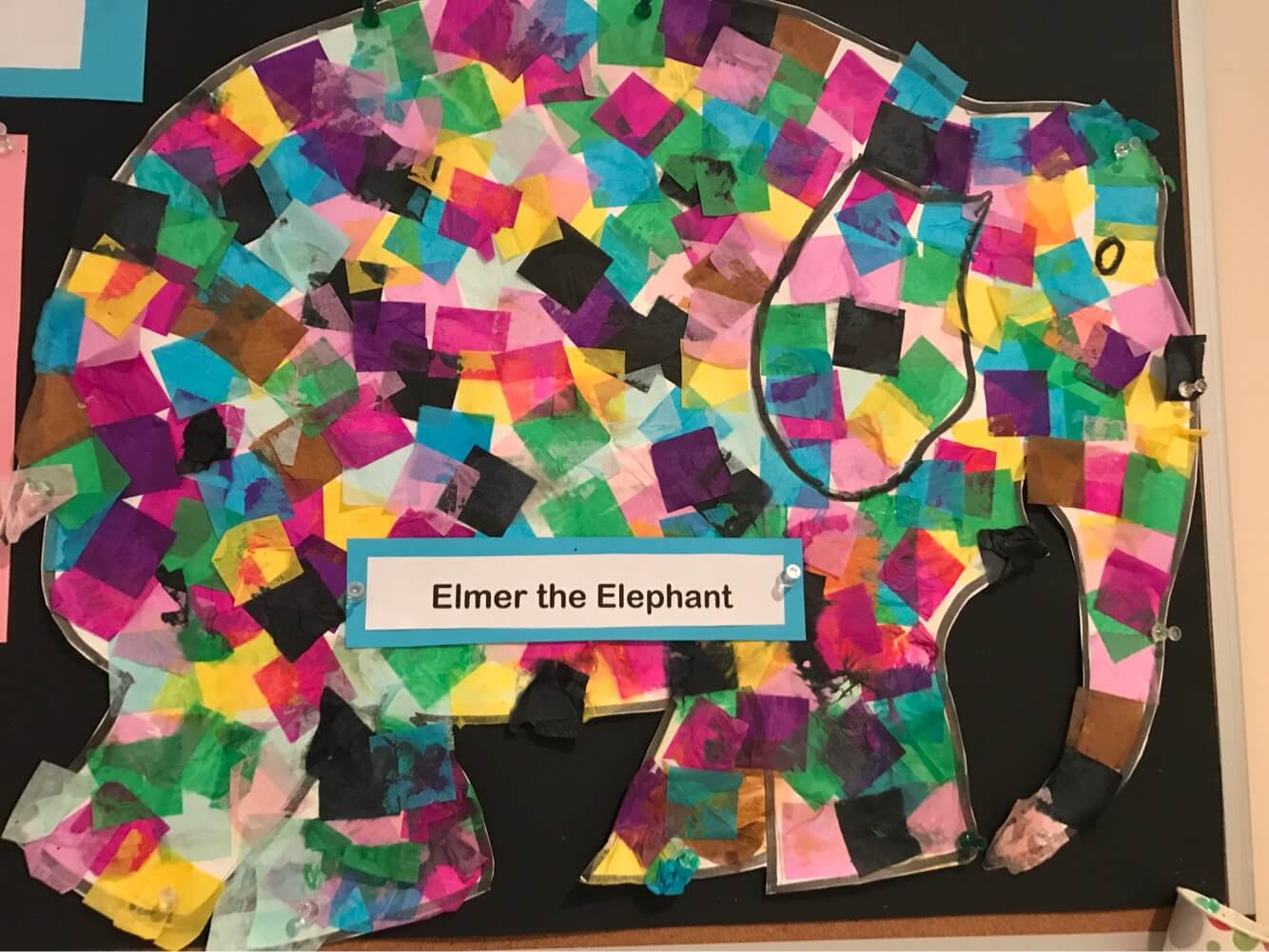picture of an Elefant made by toddlers at Early Childhood Development Associates' class