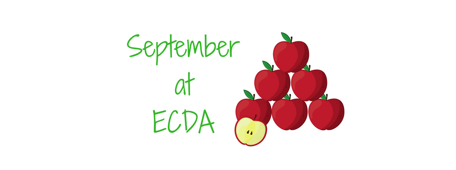"""September at ECDA"" image of apples"